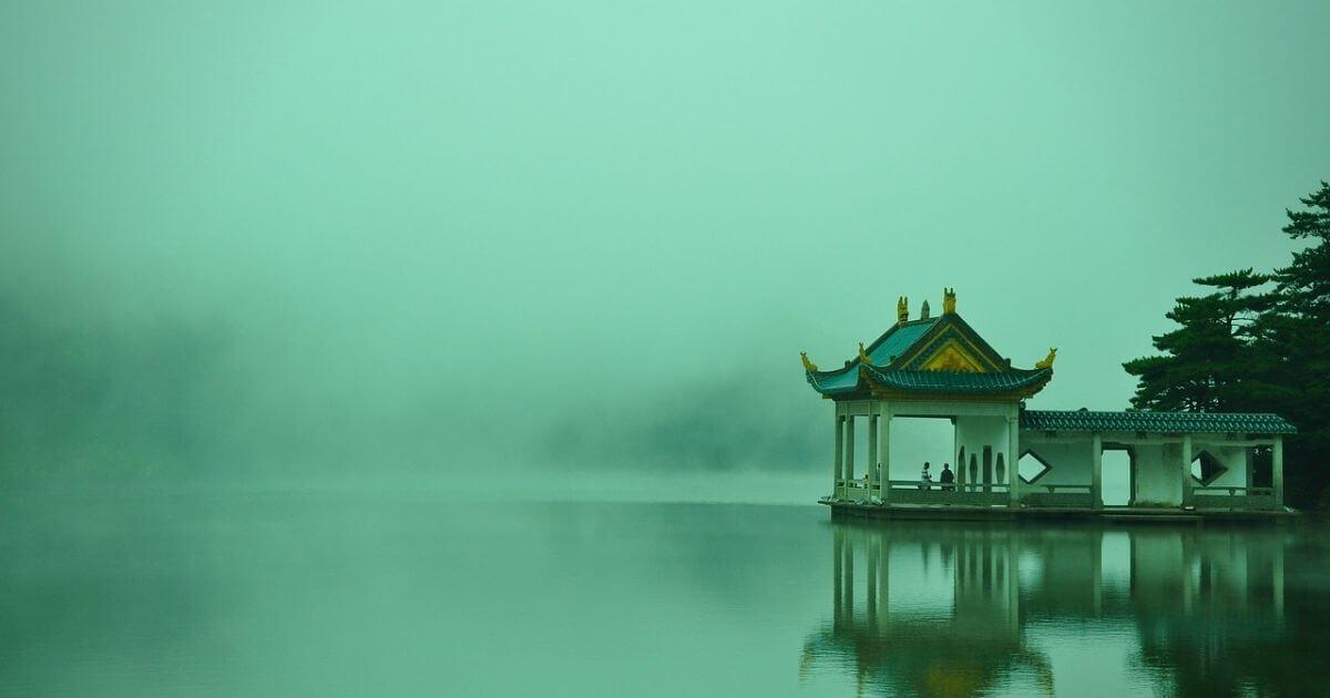 中国の水上の邸宅