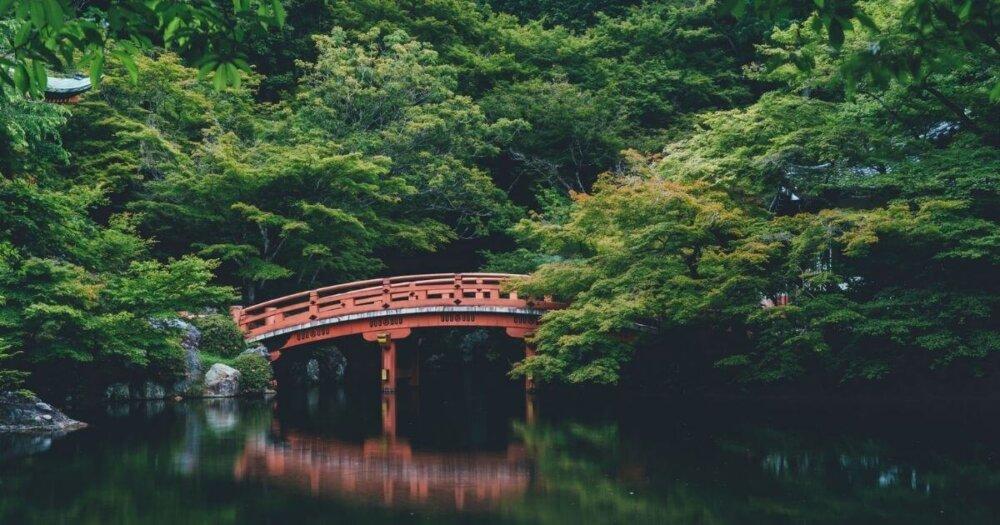 日本風の橋橋