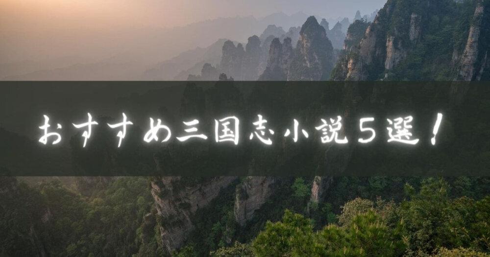 おすすめ三国志小説5選!おススメ度、難易度も併せて紹介!