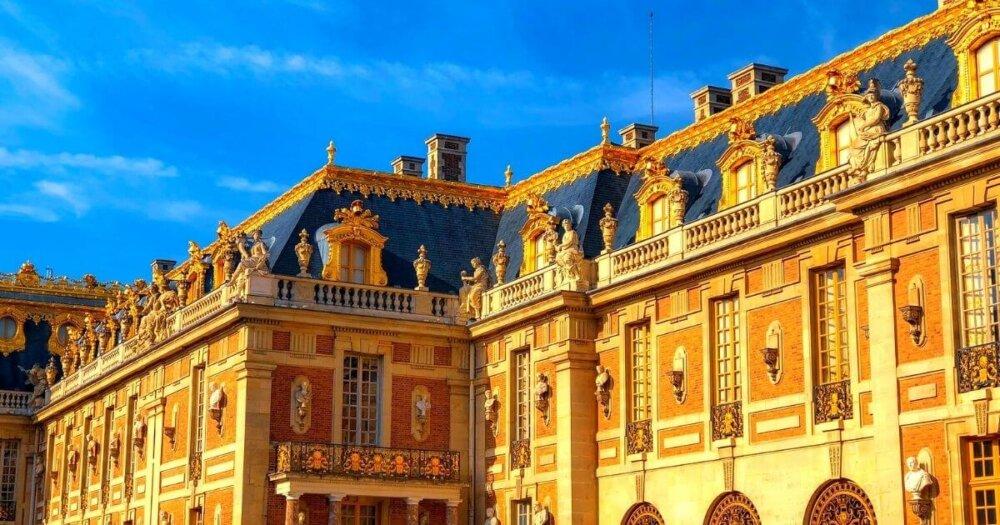 ヴェルサイユ宮殿を斜めから