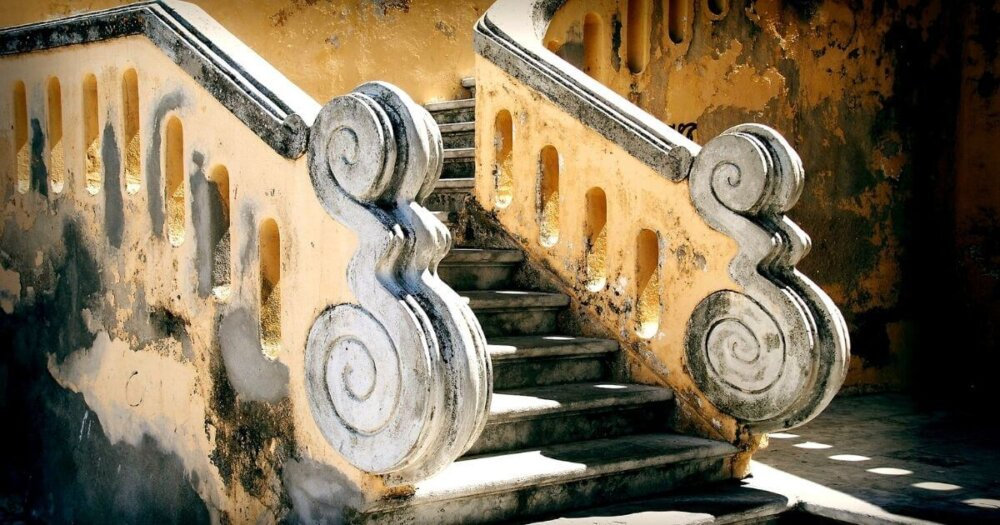 バロック式の階段