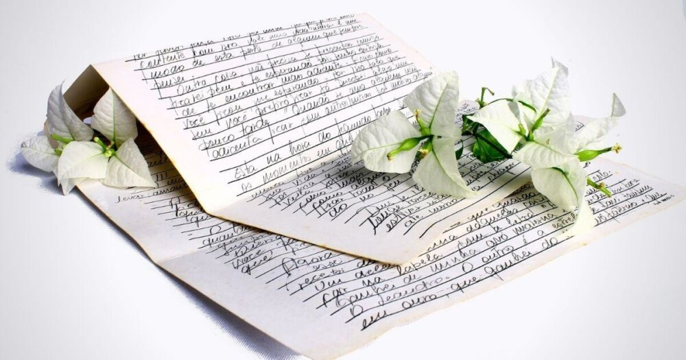 飾られた手紙